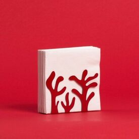 Designer Alessi napkin holder red