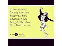 3 x take that tickets 11th may 2017 glasgow