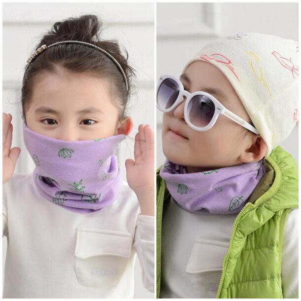 Cartoon Autumn Winter Boys Girls Collar Baby Scarf Cotton SOFT Warm Neck Scarves