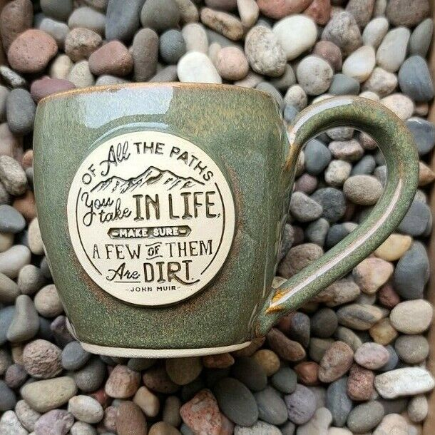 Dirt Road Mug - by Gray Fox Pottery - Similar to Deneen / Death Wish Mugs