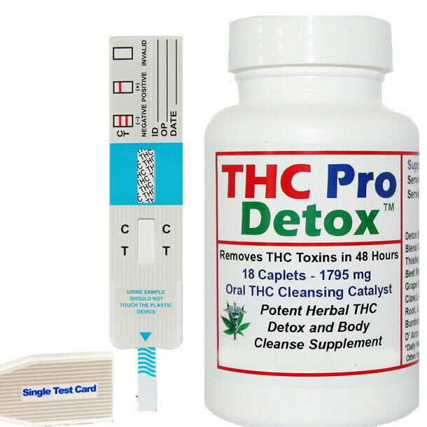 THC Pro Detox - 2 Days To Remove THC Metabolites - Made in USA + Test Strip