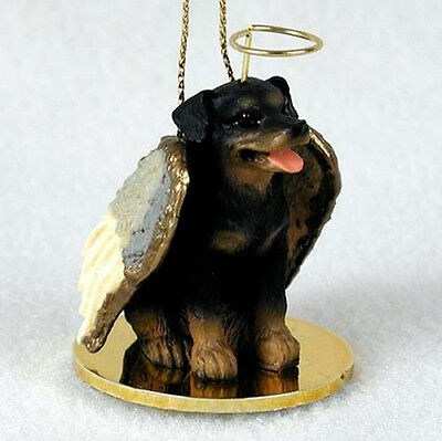 ROTTWEILER ANGEL DOG CHRISTMAS ORNAMENT HOLIDAY Figurine Statue Memorial gift