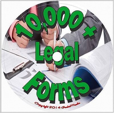 10,000 Printable Legal Forms CD Personal Business Contacts Copyright Property