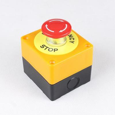 Red Sign Mushroom 1no 1nc 10a 660v Emergency Stop Push Button Switch Waterproof