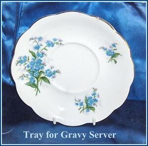 Royal Albert Forget-Me-Not Bone China  Tray for Gravy Dish