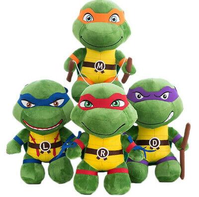 4 Teenage Mutant Ninja Turtles Plüsch Plüschtier Spielzeug Stofftier Puppe Toy (Spielzeug Ninja Turtles)
