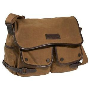 MARC NEW YORK Rivington Canvas Messenger Bag - Khaki - 80600 - MSRP $125 NEW NWT