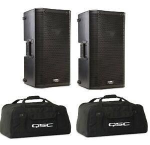 "QSC K10 10"" ACTIVE SPEAKER PAIR WITH QSC TOTES"