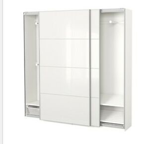 IKEA PAX WARDROBE GLASS DOORS