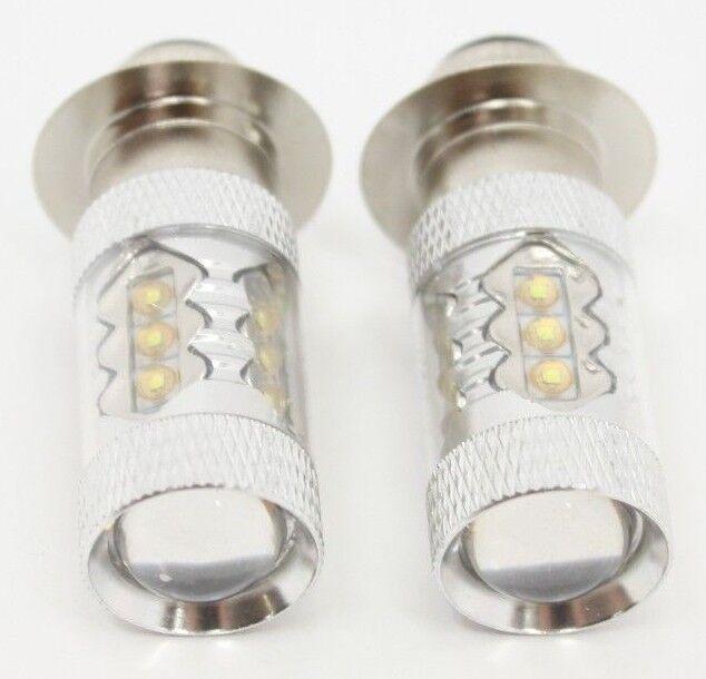 Yamaha Big Bear 250 350 400 Bruin LED Bulbs Headlights Super White 100w 8500k SW