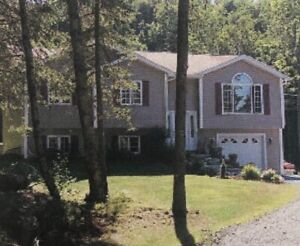 3 Acres private -4 bedroom house,  Attached  garage-  QUISPAMSIS