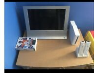 Wii plus tv & gams two controllers