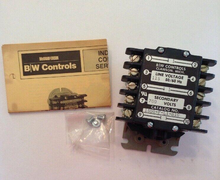 McGraw-Edison B/W Controls Liquid Level Control 1500-F-L1-S10 115V 50/60 Hz