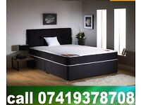 B New Double / Single / King Size Divan Bed with Mattress