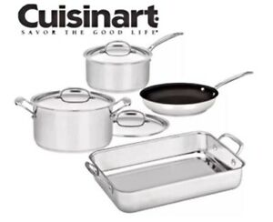 Cuisinart Chef's Classic Stainless Steel 4-Piece Cookware Set BN Coburg Moreland Area Preview