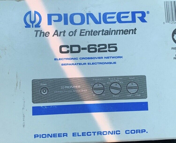 Pioneer Electronic Crossover Network CD-625 Car Audio New