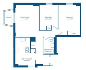 Roommate wanted next to hurdman! Clean 2 bedroom apartment.ASAP!