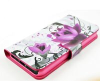 iPhone 5s Red Roses Leather Flip Case Cover