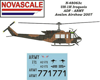 ADF UH-1H Huey Mini-Set Decals 1/48 Scale N48063c, used for sale  Shipping to United States