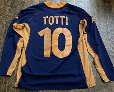 Roma 2001 - 2002 Away football Kappa jersey size XL #10 TOTTI image