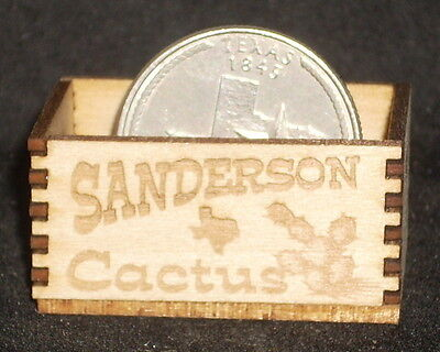 Dollhouse Miniature Sanderson Cactus Produce Crate 1 12 Store Market Farm Texas