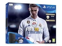 PS4 Slim 1TB Black Console Inc FIFA 18 And 2 Controllers Brand New & Sealed