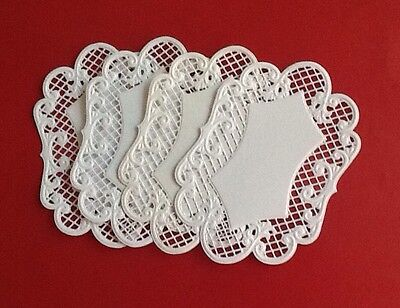 4 Marianne Design Lattice Oval die cuts, Handmade, Embossed