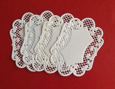 4 Marianne Design Lattice Oval die cuts, Handmade, Embossed