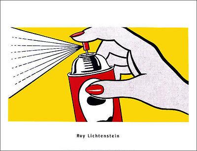 """Roy LICHTENSTEIN Spray Can 1962 Pop Art Poster Print 23-1/2"""" x 31-1/2"""""""