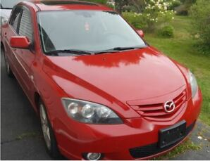 2005 Mazda 3 Sport Hatch back Red, excellent condition
