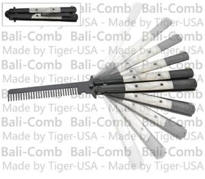 Training Practice Butterfly Knife Pearl Handle Balisong Knives Balicomb Combs