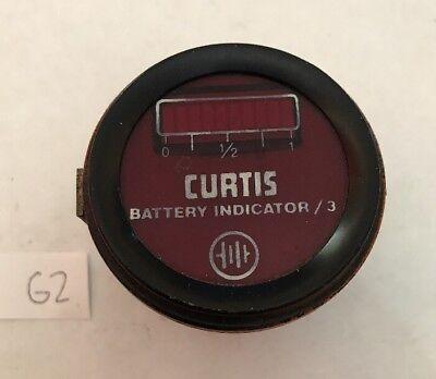 Vintage Curtis Battery Indicator Original Orange Steampunk G2