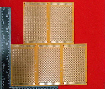 5pcs 9cm15cm Prototyping Pcb Printed Circuit Board Prototype Breadboardsn601