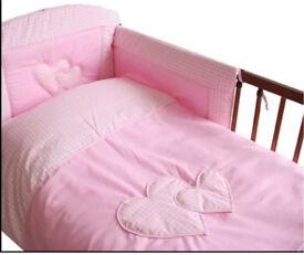 Baby duvet and pillow case 90x120 cm+ 40x60 cm plus bumper