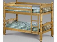 BRAND NEW CHUNKY SOLID PINE BUNK BED