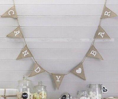 Candy Bar Girlande Flaggen Vintage Hochzeit DIY Dekoration