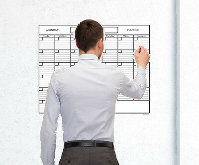 (18x24 Monthly Erasable Blank Reusable Undated 1 Month Wall Calendar Planner)