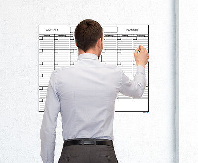 18x24 Monthly Erasable Blank Reusable Undated 1 Month Wall Calendar Planner