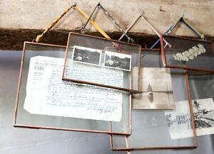 nkuku copper picture photo frame 4 x 6 landscape kiko glass double sided ebay. Black Bedroom Furniture Sets. Home Design Ideas