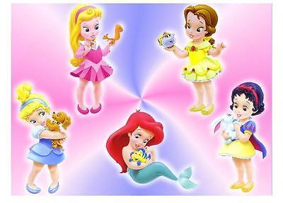 Disney Princess Babies 5X7 T Shirt Iron on Transfer