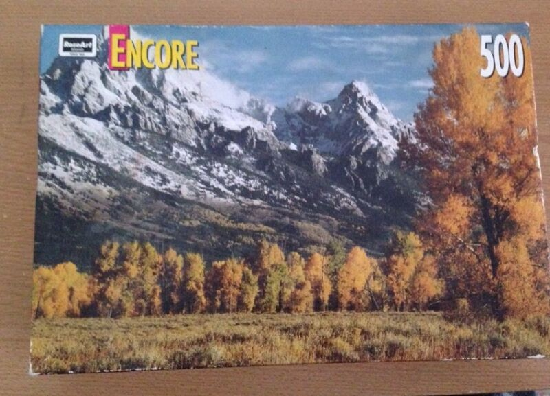 500 Piece jigsaw puzzle new 1999 Rose art Encore GRAND TETON NATIONAL PARK