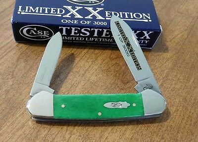 CASE XX New Limited Ed Series 34 Bright Green Bone 2 Blade Canoe Knife/Knives