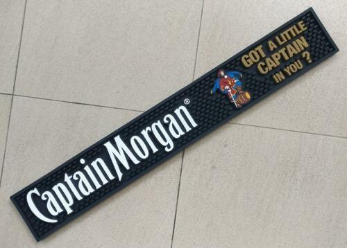 "CAPTAIN MORGAN RUM ""GOT A LITTLE CAPTAIN IN YOU"" RAIL BAR MAT RUNNER COASTER NEW"