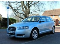 AUDI A3 2.0 TDI BEIGE INTERIOR ELECTRIC LEATHER SEATS 5DR 55PLATE YEAR MOT GOOD CONDITION A1 A2 A4