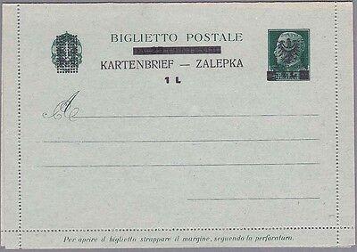 Laibach Kartenbrief Mi.Nr. K 1 ungebraucht mit Befund Brunel VP