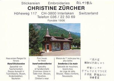 alte AK Stickereien Christine Zürcher, Schweiz ungelaufen Ansichtskarte B034b