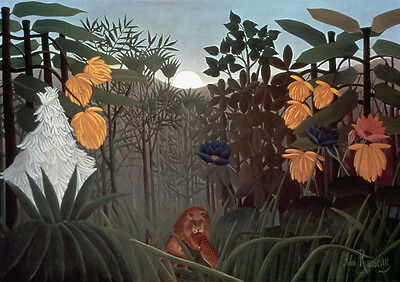 Repast of the Lion  by Henri Rousseau  Giclee Canvas Print (Henri Rousseau The Repast Of The Lion)