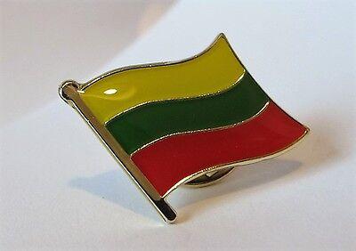 LITHUANIA - Flag Pin Badge  High Quality Gloss Enamel