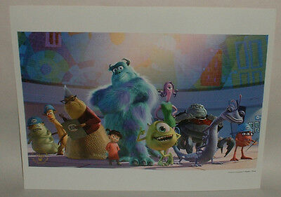 2003 Walt Disney Pixar MONSTERS INC litho print The Disney Store commemorative