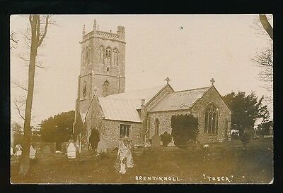 Somerset BRENT KNOLL Church c1900/20s? RP PPC by Tosca